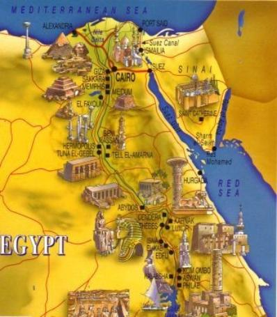Ancientegypt - Map of egypt old kingdom